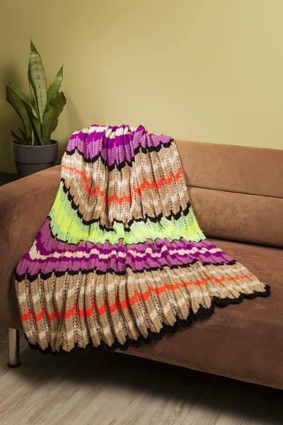 Modern Chevron Throw Pattern Universal Yarn