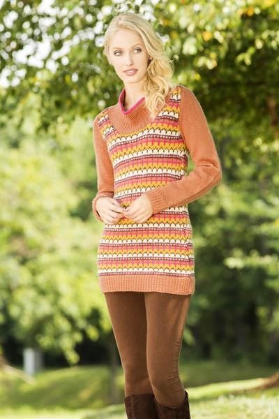 September Days Tunic Pattern Universal Yarn
