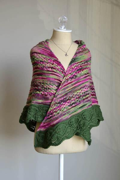 In the Garden Shawl Pattern Universal Yarn