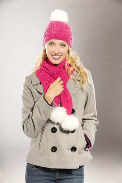 Snowbunny Hat and Scarf Pattern Universal Yarn