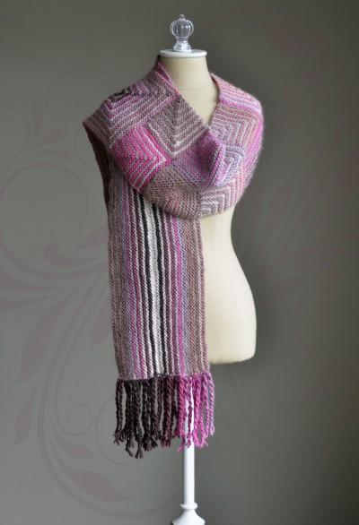 Mixed Miters Scarf Pattern Universal Yarn
