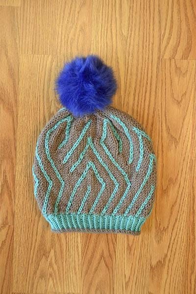 Here and There Hat Pattern Universal Yarn