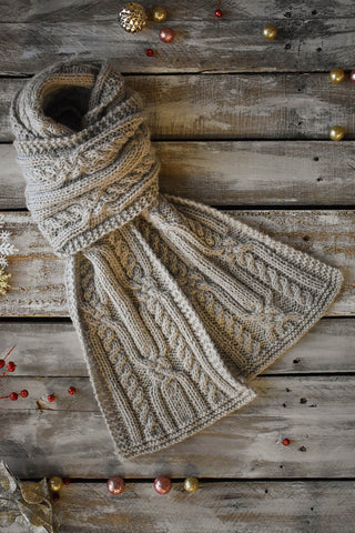 Bias Stripe Scarf