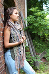 Embossed Leaf Scarf