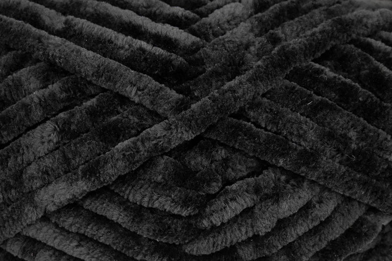 Bella Chenille Big Yarn Universal Yarn 406 Black