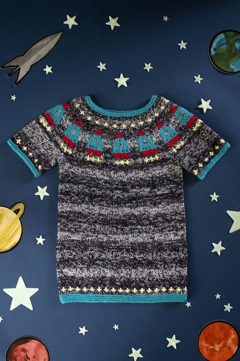 Blast-Off Pattern Universal Yarn