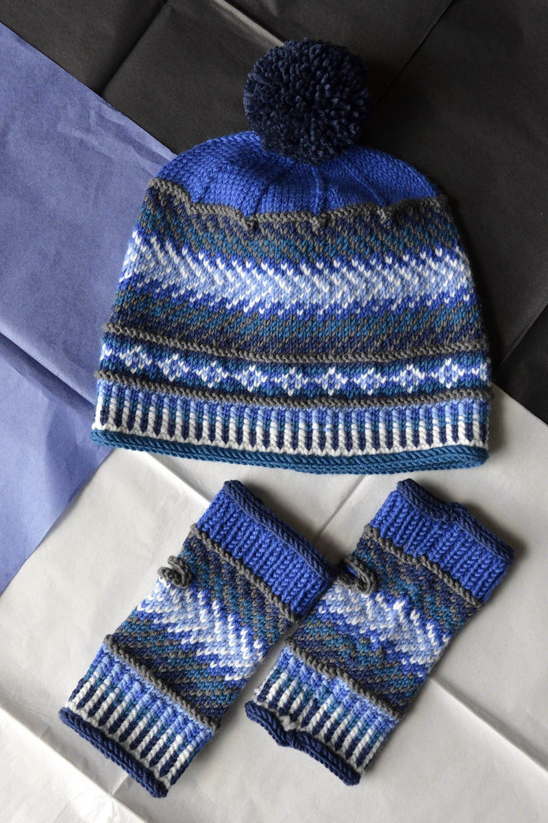 Dona Color Kits - Blues Kit Universal Yarn Color Shift Hat and Mitts - Blues02