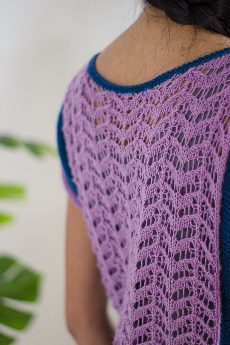 Blueberry Tee Pattern Fibra Natura