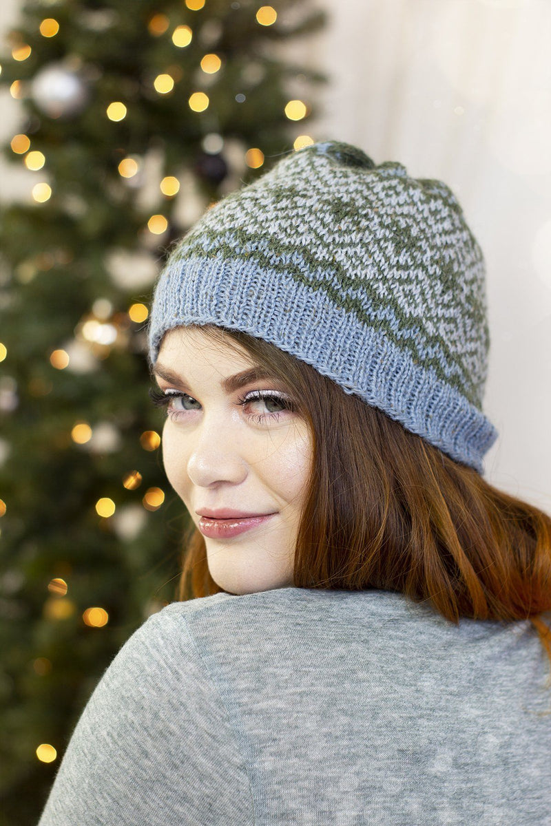 12 Days - Boreal Hat Kit Universal Yarn Option 2 Icy Blue