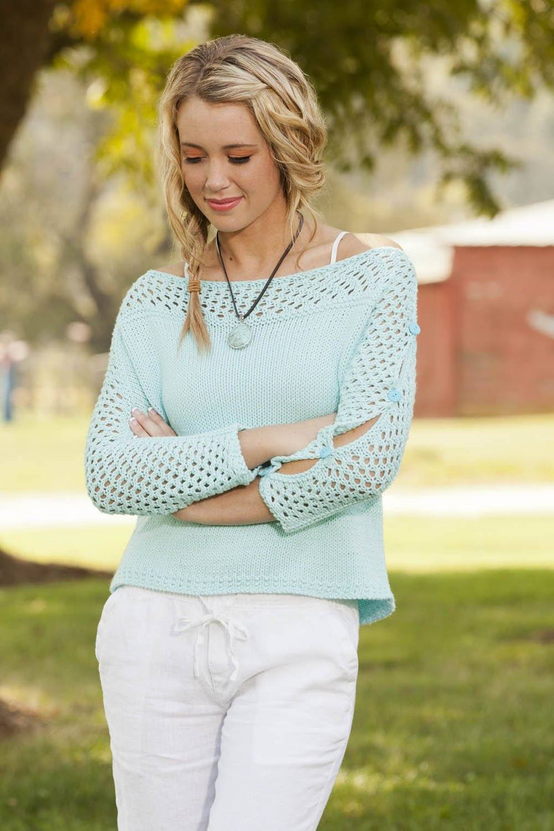 Button Sleeve Pullover Pattern Universal Yarn