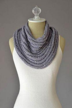 Crinkle Cowl Kit Rozetti Yarns Crinkle Cowl 04 Dove Gray - CRINK04