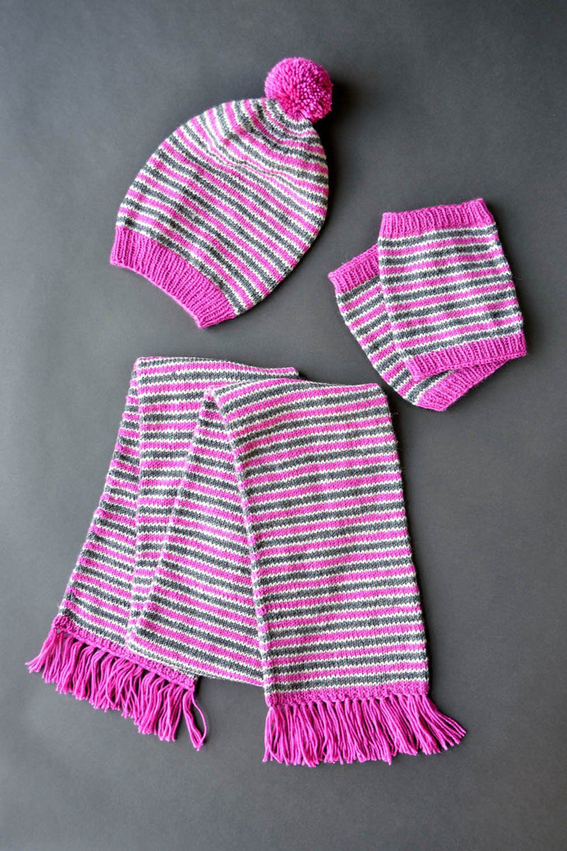 Candy Stripe Set Pattern Universal Yarn