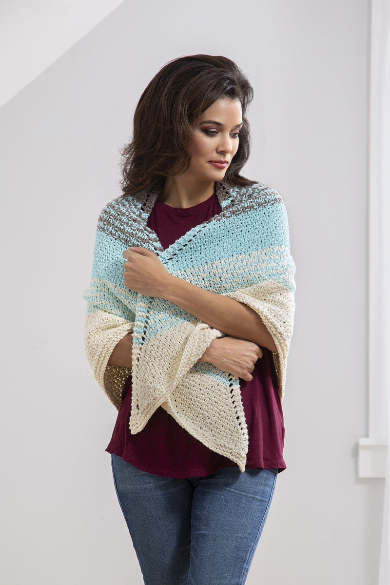 Coastal Shawl Pattern Universal Yarn