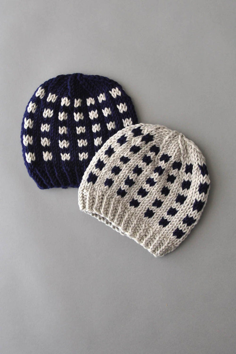 Coffee Beans and Sugar Cubes Hats Kit Universal Yarn Coffee Beans Hats 05 Navy - UBHat05