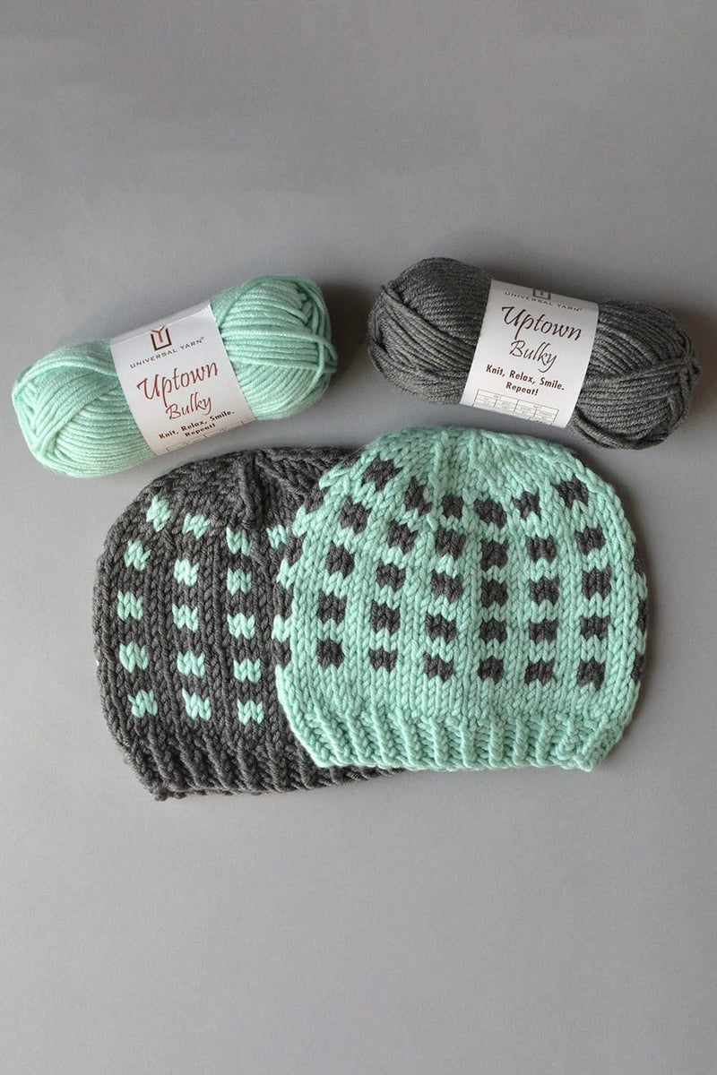 Coffee Beans and Sugar Cubes Hats Kit Universal Yarn