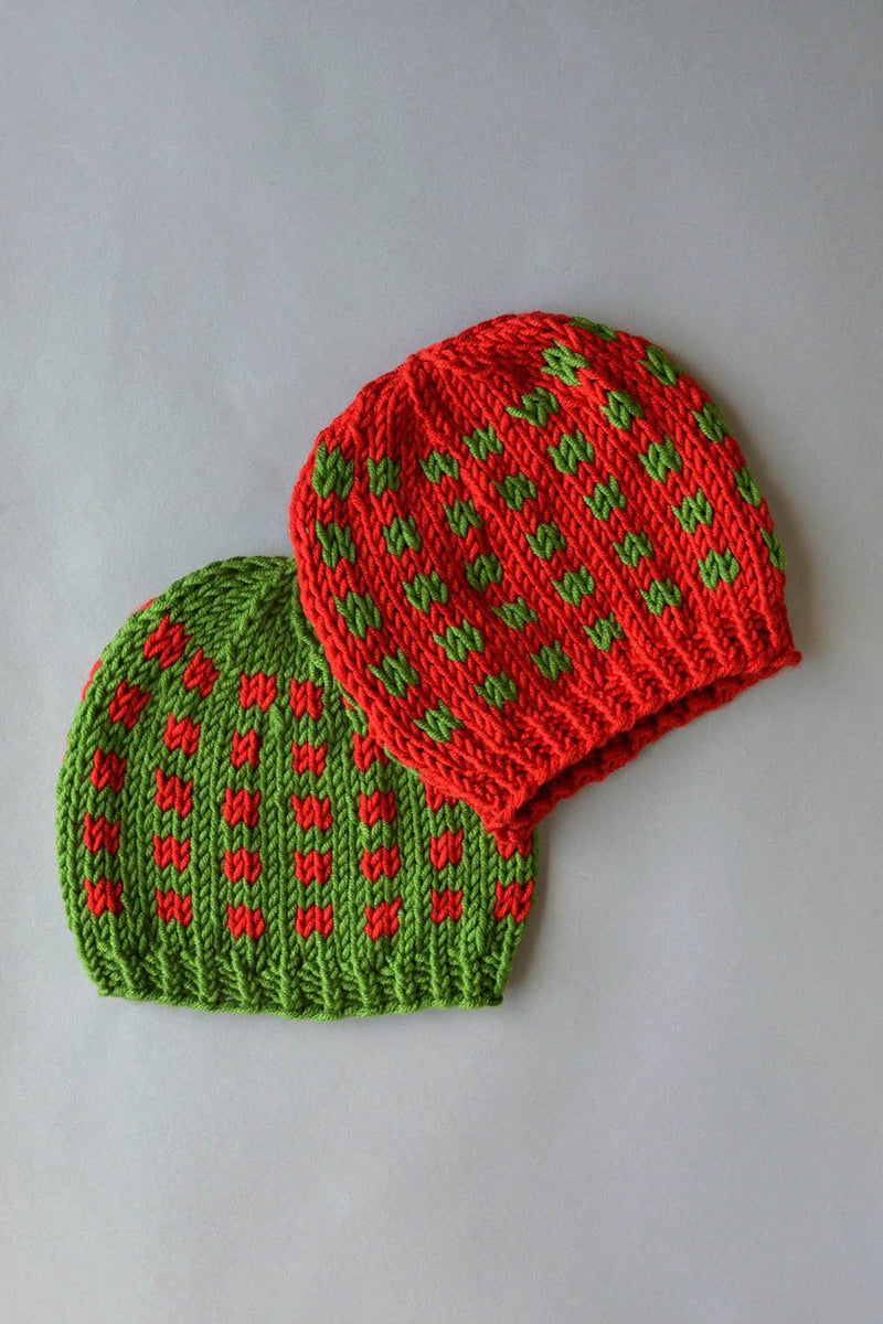 Coffee Beans and Sugar Cubes Hats Kit Universal Yarn Coffee Beans Hats 04 Holiday - UBHat04