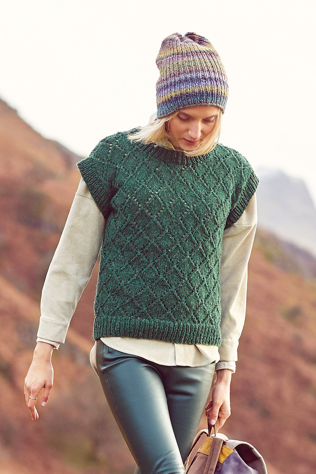 FASHION MODERN TWEED - Sweater, Tank Top, & Cardigan Pattern Rico