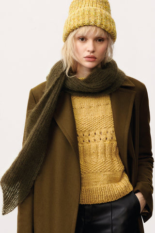 FASHION MODERN TWEED - Sweater, Cardigan, and Scarf
