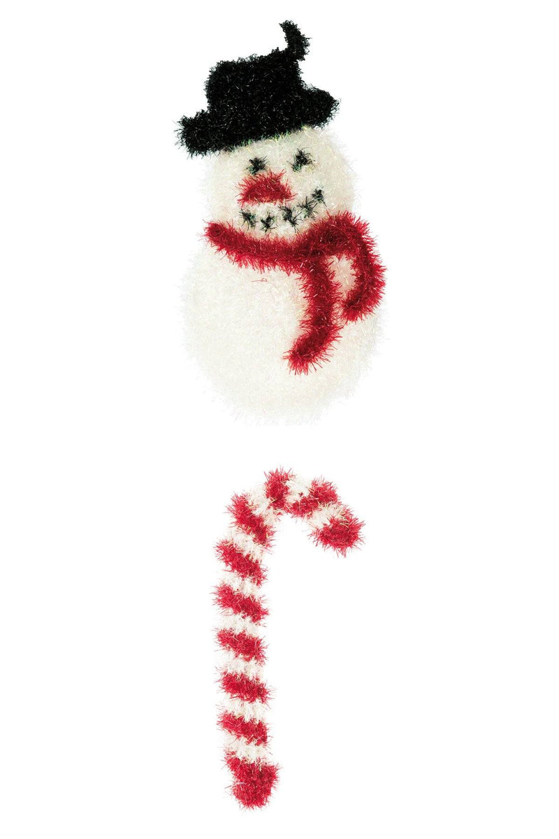 Snowman and Candy Cane Pattern Rico