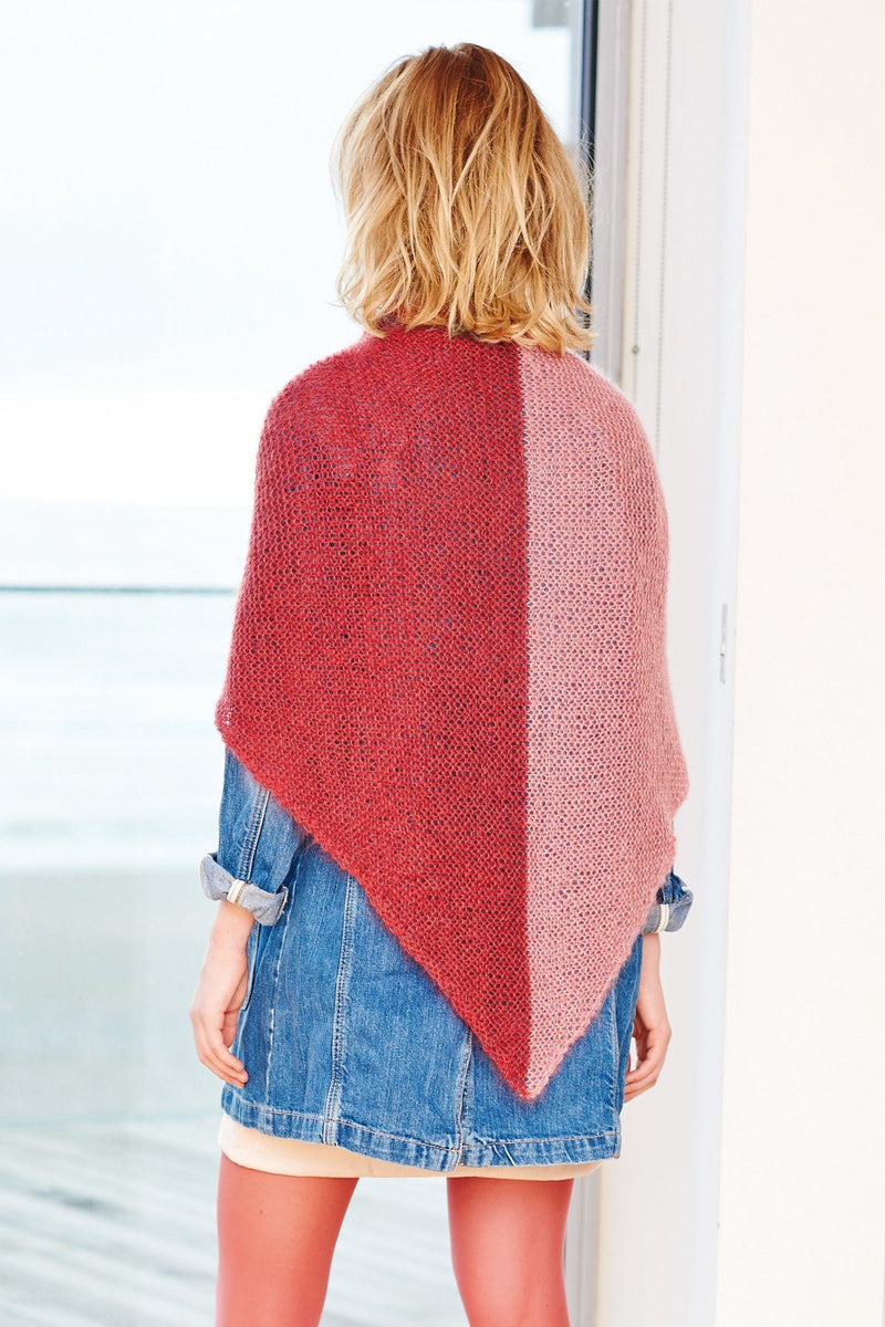 SUPER KID MOHAIR LOVES SILK - Triangular Shawl Pattern Rico