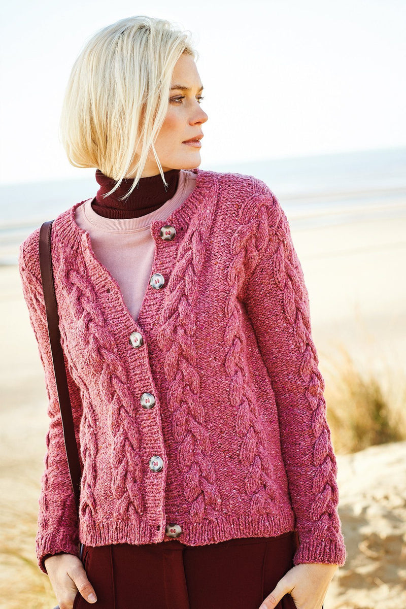 FASHION MODERN TWEED - Sweater, Cardigan, and Scarf Pattern Rico