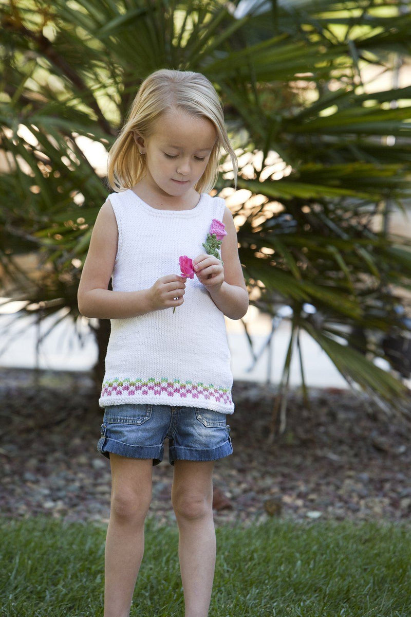 Child's Gingham Trim Tank Top Pattern Universal Yarn