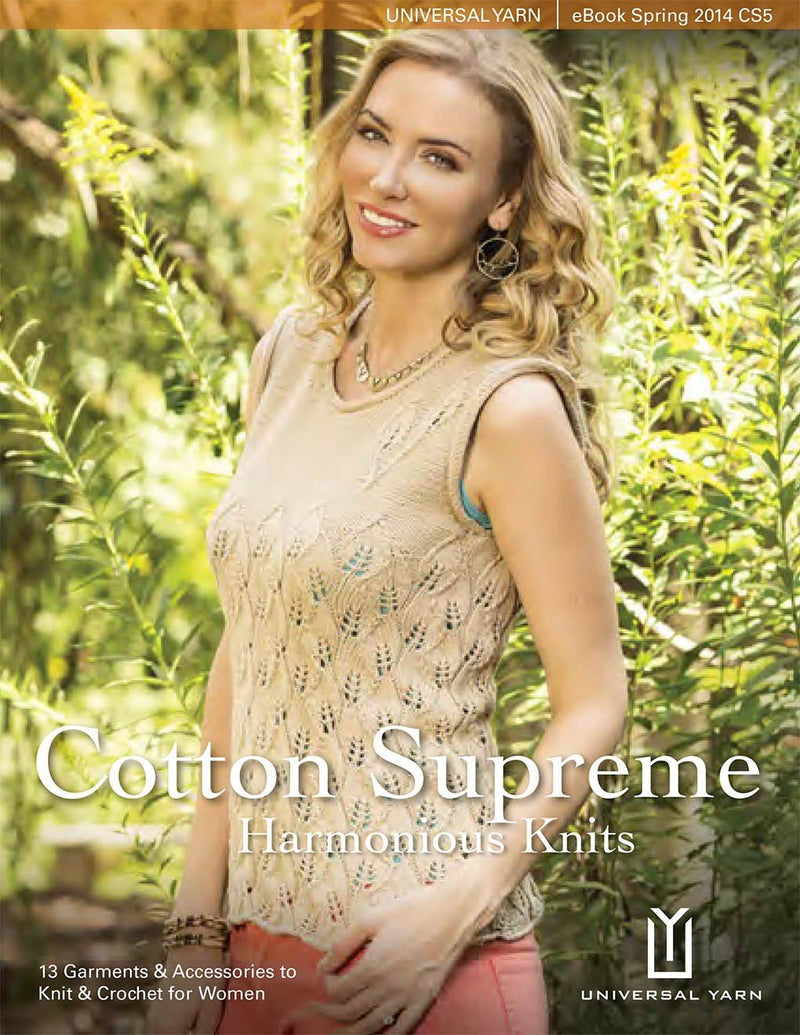 Cotton Supreme Book 5: Harmonious Knits Pattern Universal Yarn