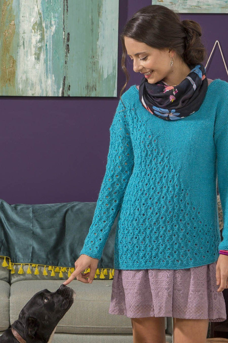 Diminishing Lace Knit Pullover Pattern
