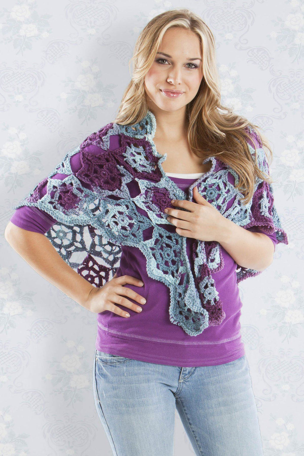 English Garden Shawl Pattern Universal Yarn