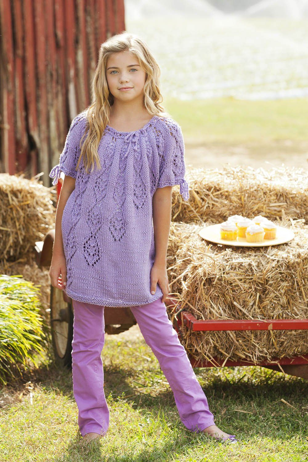 Falling Jewels Tee (Child) Pattern Universal Yarn