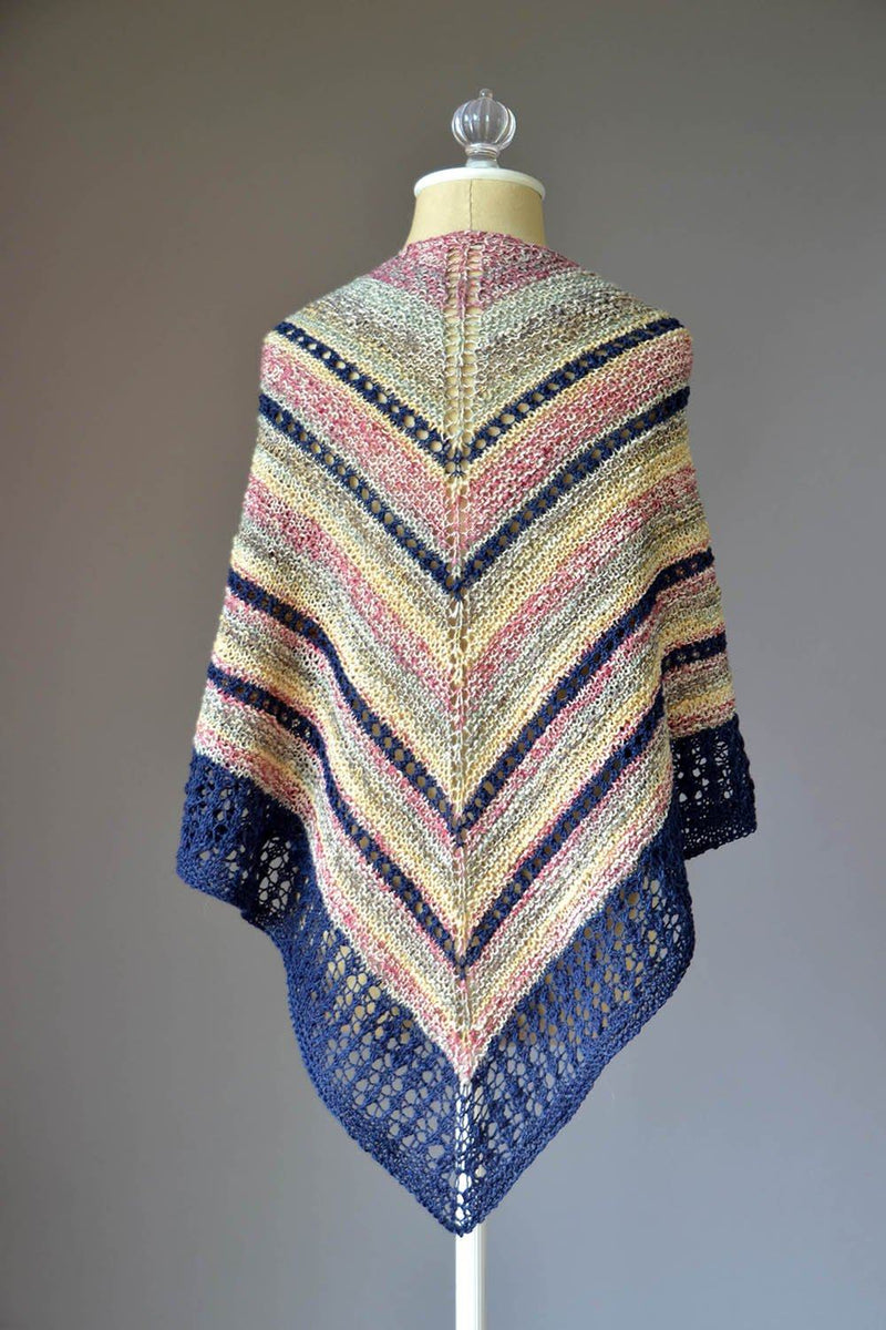 Flying V Shawl Pattern Fibra Natura