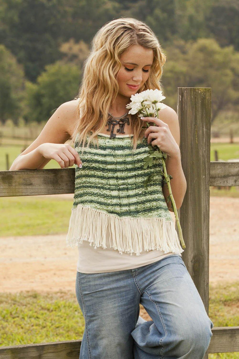 Fringed Tank (Adult) Pattern Universal Yarn
