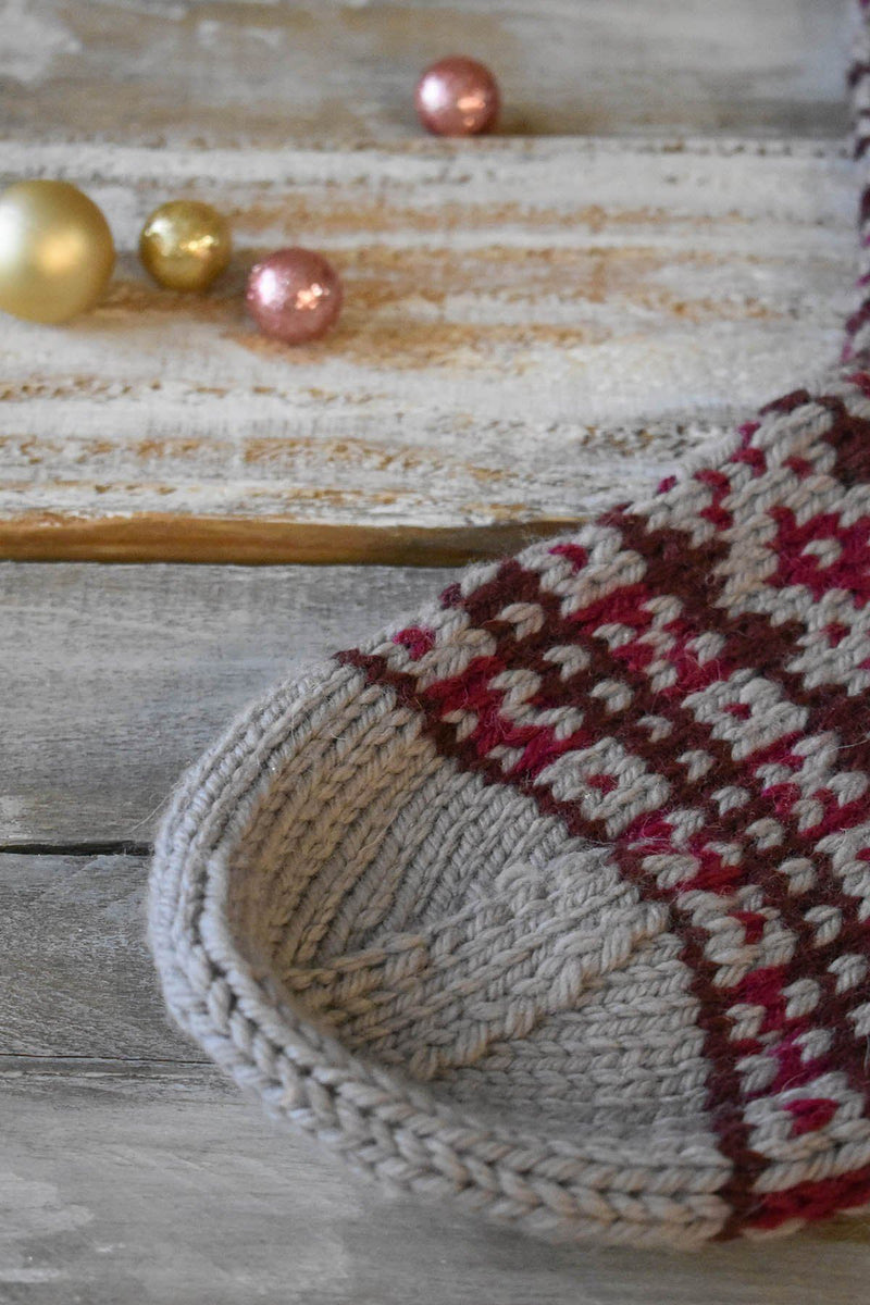 Gingerbread Stocking Pattern Universal Yarn