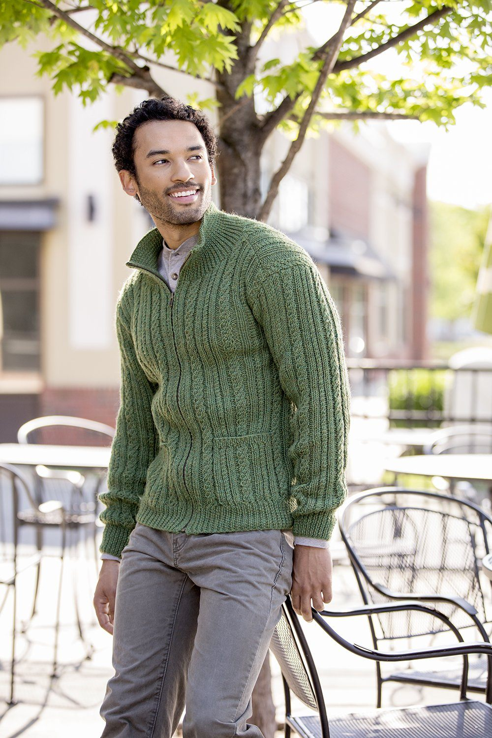 Greensboro Cardigan Pattern Universal Yarn
