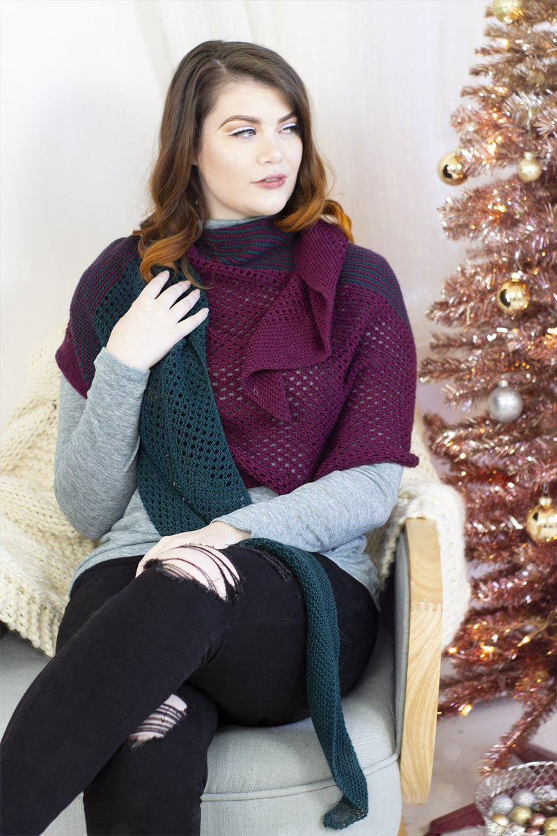 12 Days - Inkberry Shawl Kit Universal Yarn