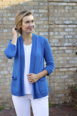 No. 3 Cropped Yoke Cardigan