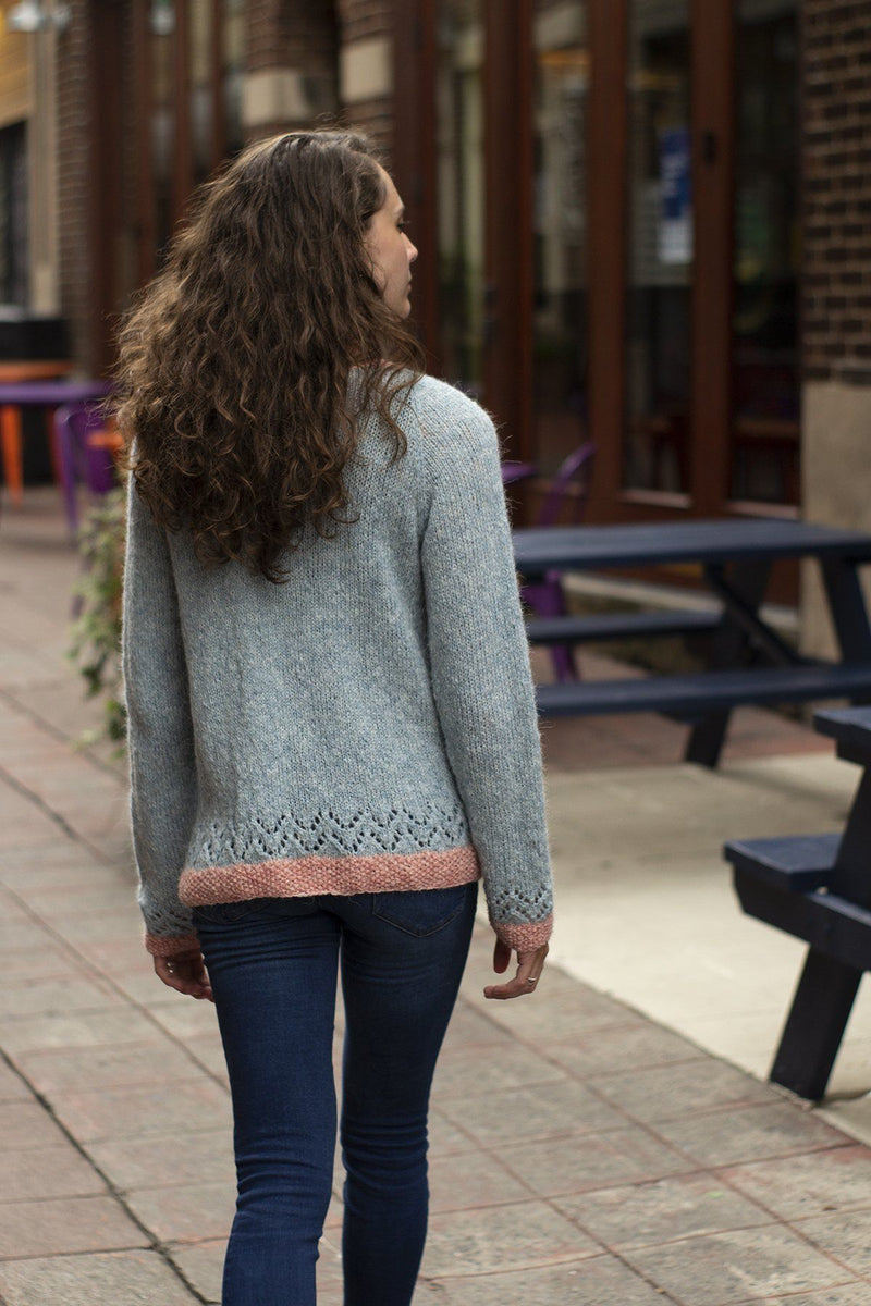 Lace Tipped Cardigan Pattern Universal Yarn