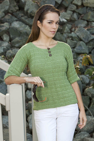 Button Sleeve Pullover