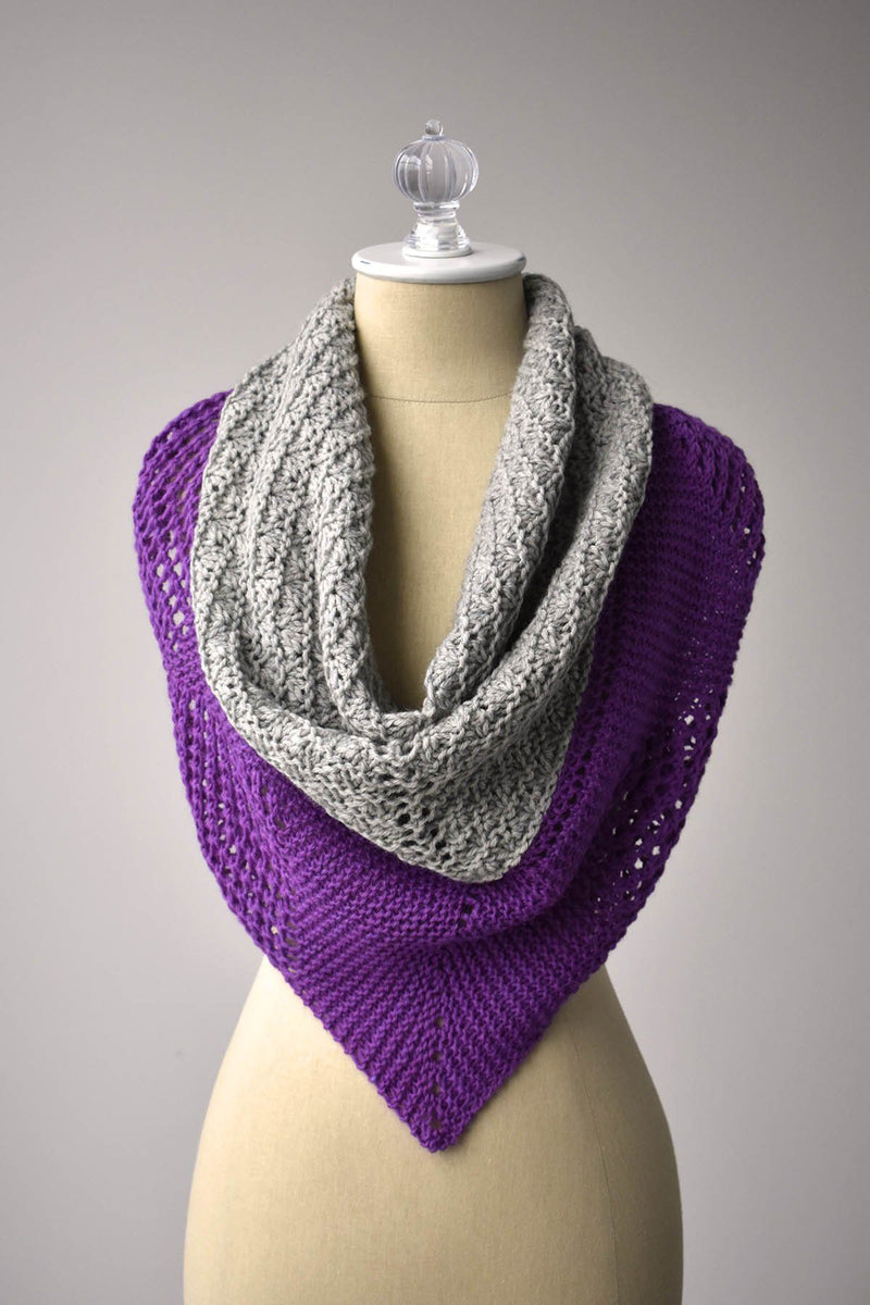 Mountain Lights Shawl Pattern Universal Yarn
