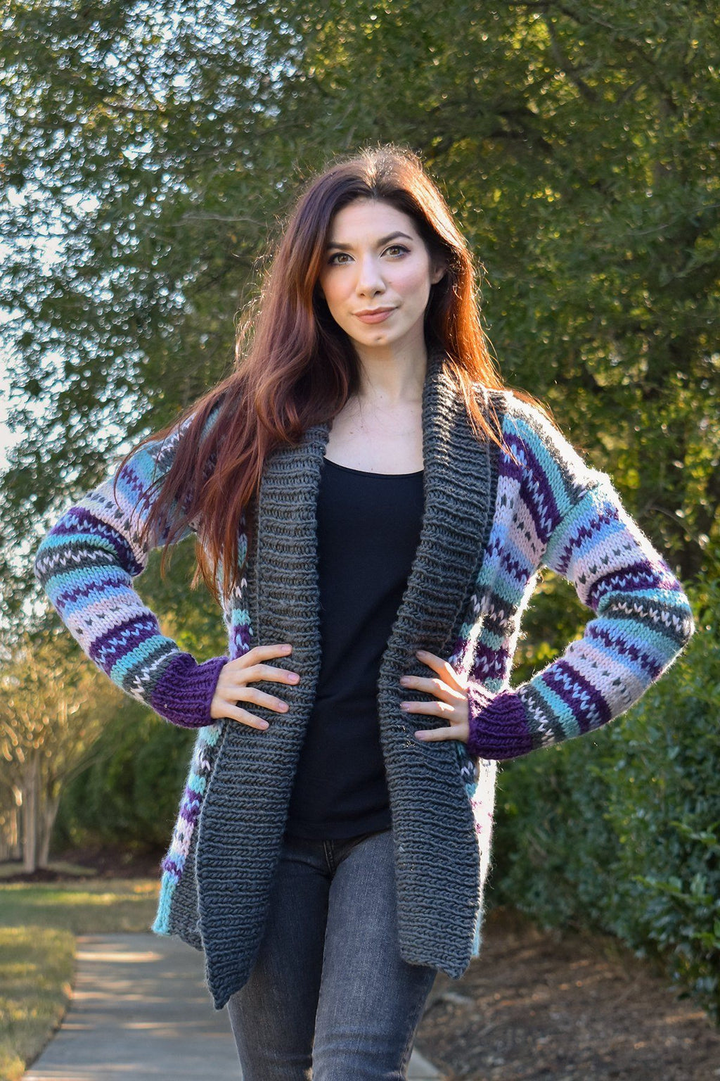 Maverick Cardigan Pattern Rozetti Yarns