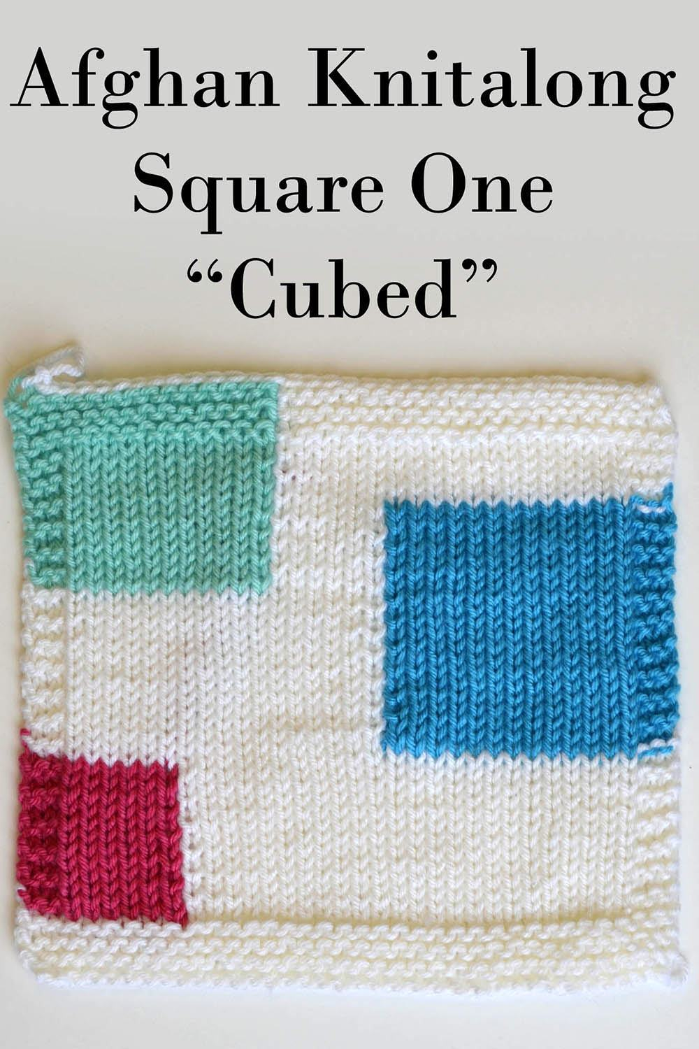 Afghan Knitalong Square 1 - Cubed Pattern Universal Yarn
