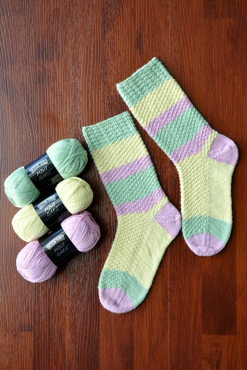 Pastel Pop Socks Pattern Wisdom Yarns
