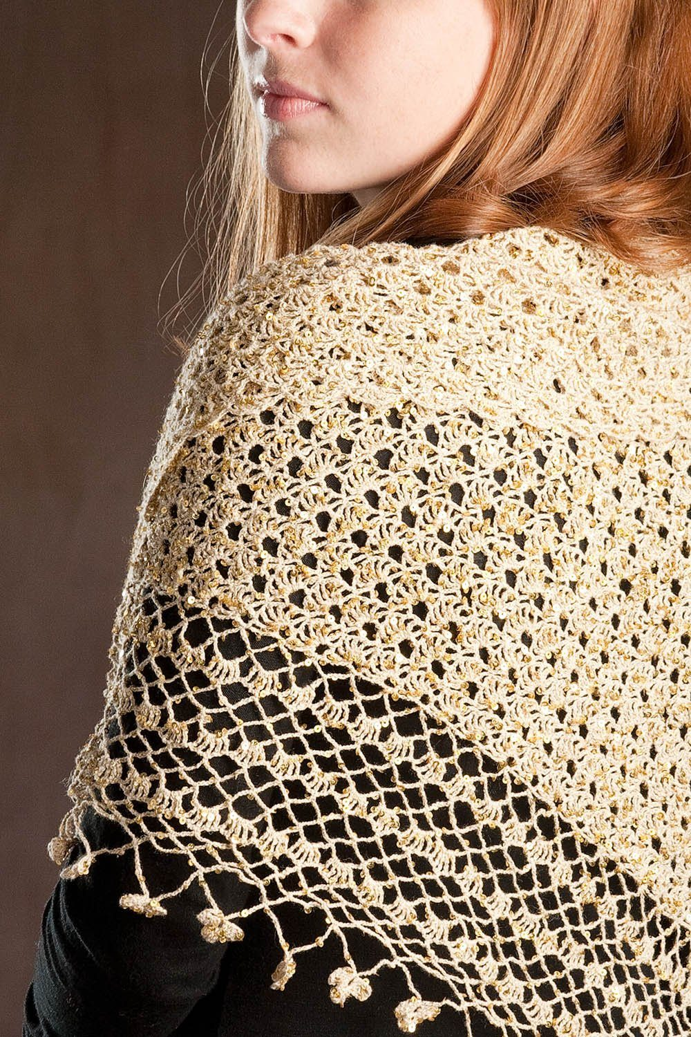 Crocheted Shawl Pattern Rozetti Yarns