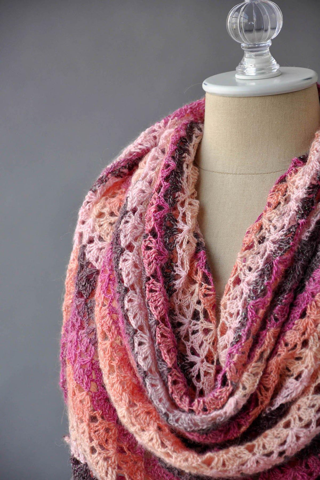 Incarnadine Shawl Pattern Rozetti Yarns