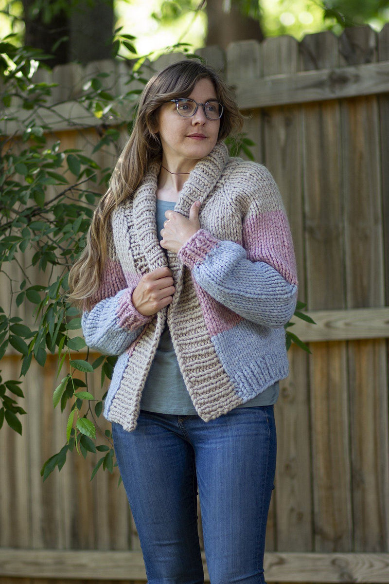 Paintbox Cardigan Pattern Universal Yarn
