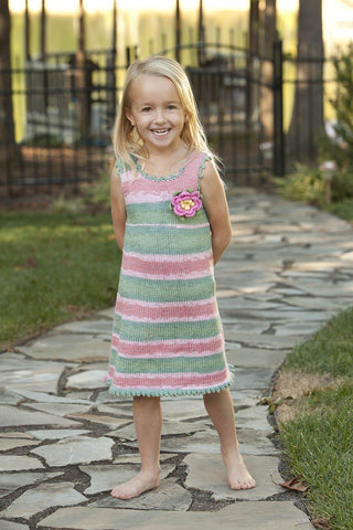 Child's Gingham Trim Tank Top
