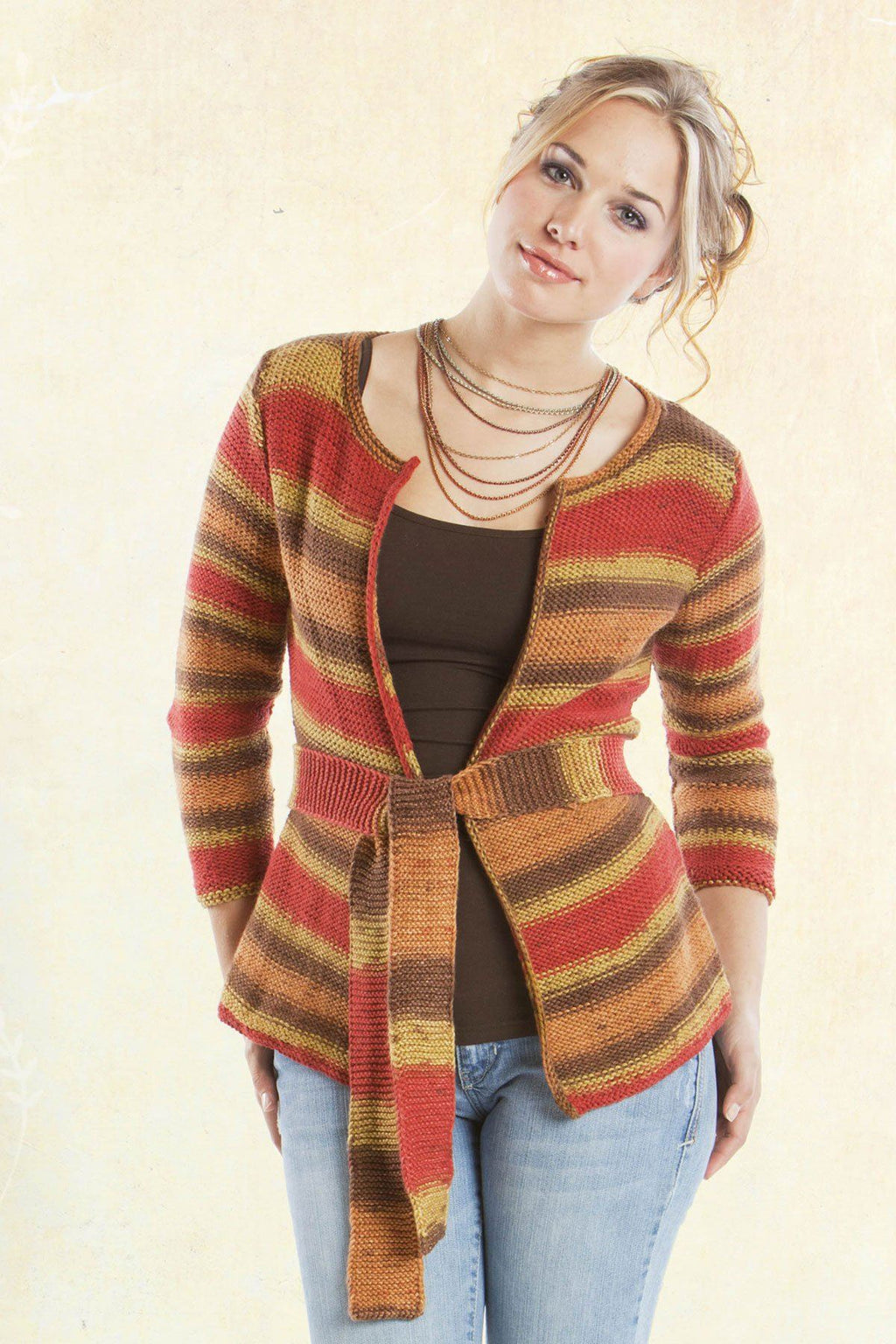 Plaza Belted Cardigan Pattern Universal Yarn