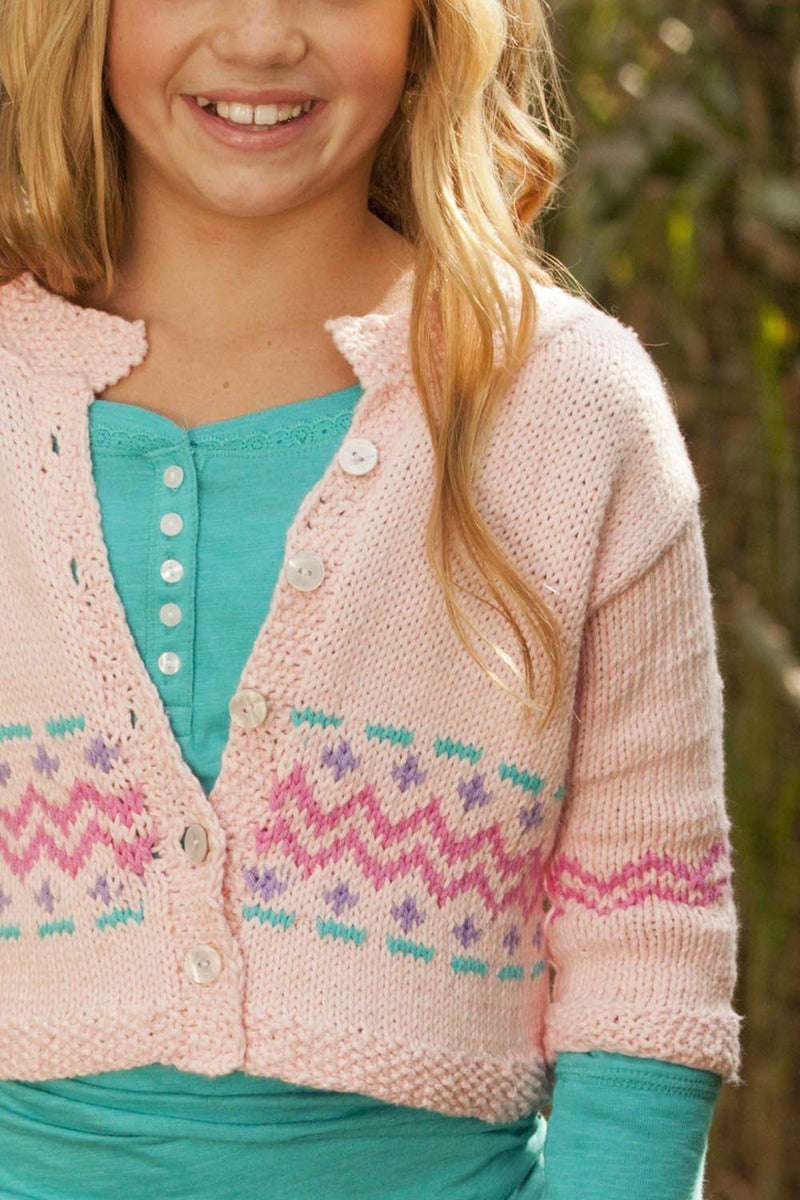 Printed Cropped Cardigan Pattern Universal Yarn