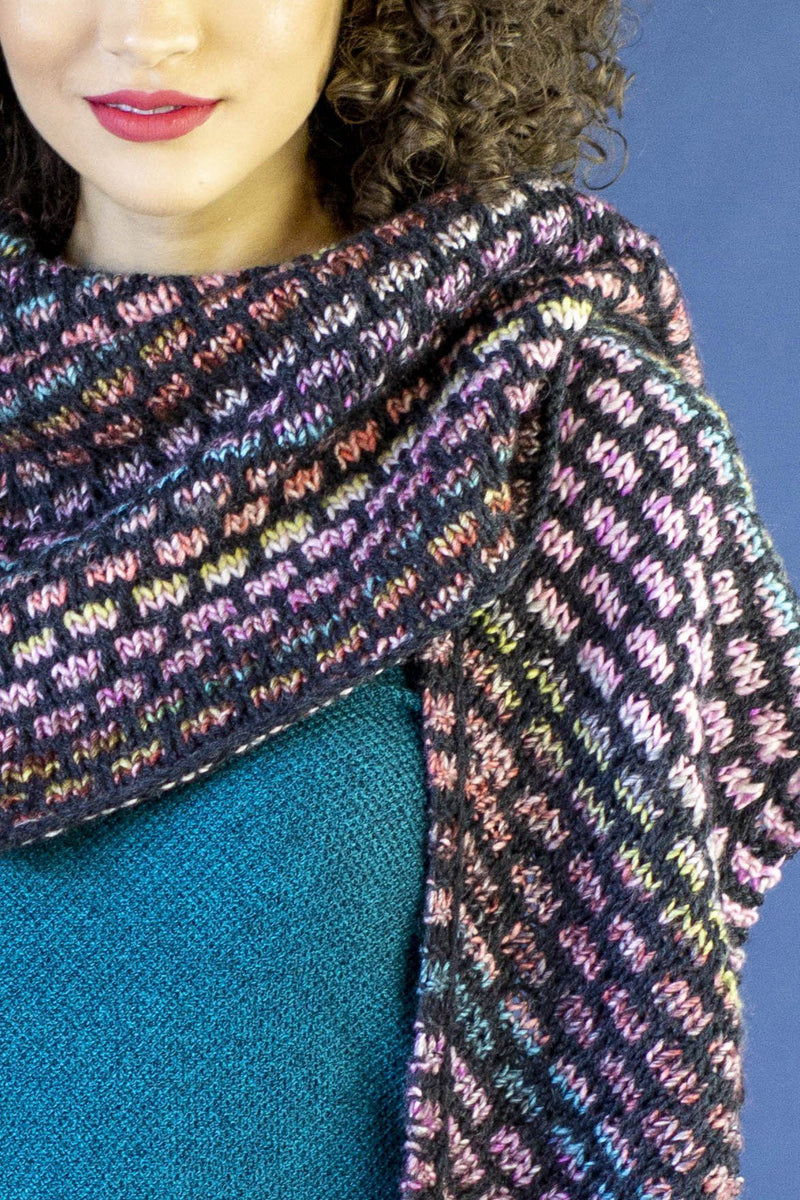 Rainbow Bricks Shawl Pattern Universal Yarn