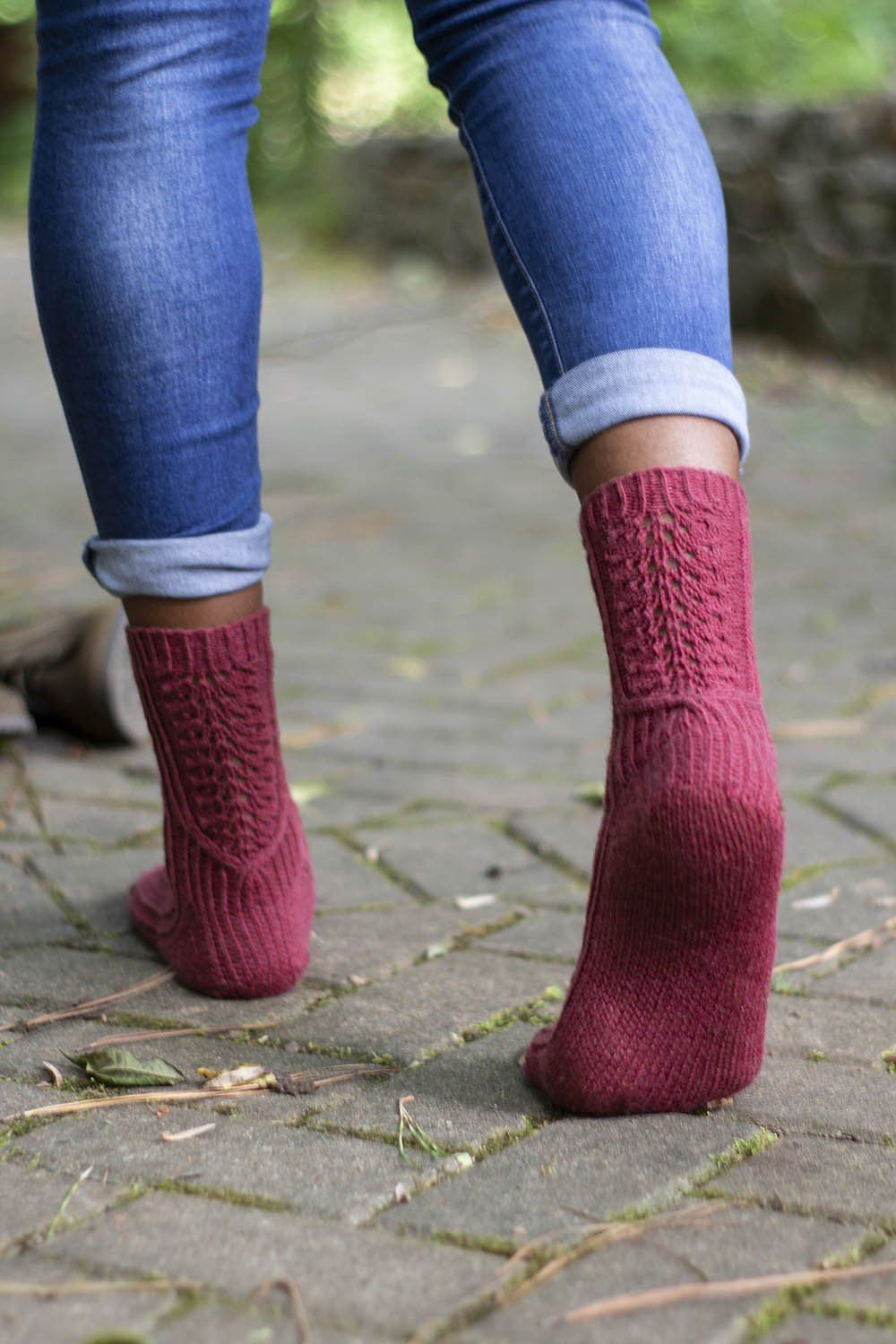 Red Cypress Socks Pattern Universal Yarn